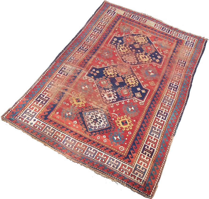 Antique Kazak Rugs, Caucasian Rugs, For Sale £195